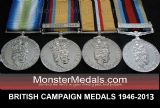 FULL SIZE REPLACEMENT BRITISH CAMPAIGN MEDALS